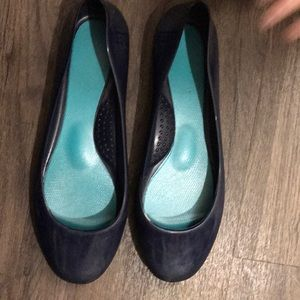 Shoes - Navy jelly flats . Size 38